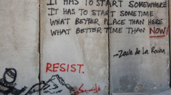 Graffiti-muur Enough is Enough! - Humanity House