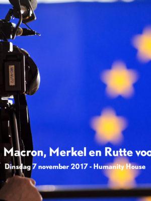 Luister terug: Wat willen Macron, Merkel en Rutte voor Europa?