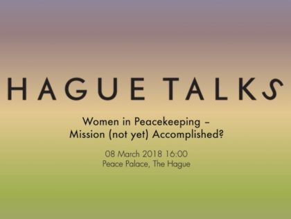 Women in Peacekeeping HagueTalks- Humanity House