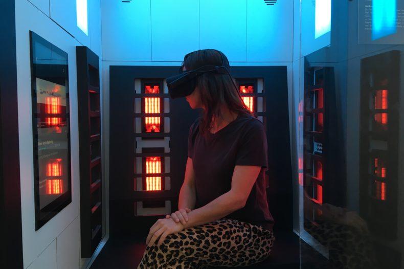 VR-installatie over vluchtelingenkamp