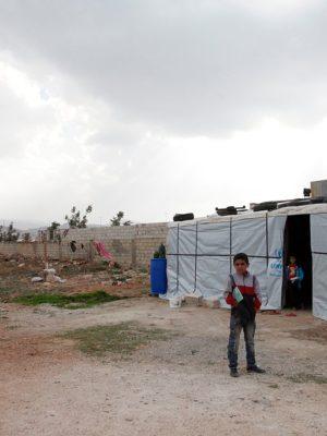 VR-installatie over vluchtelingenkamp 1