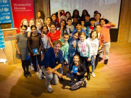 Lancering digiles Unicef: 'Kinderen op de Vlucht' in Humanity House