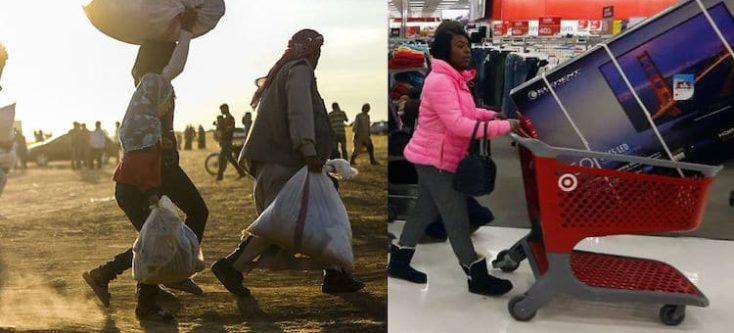 Het contrast tussen twee werelden