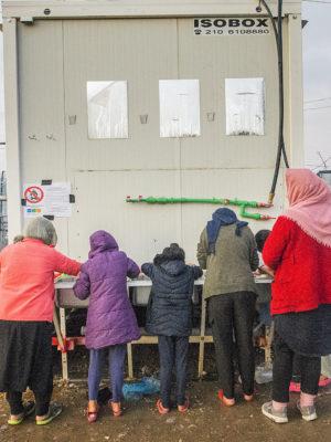 Corona in de Griekse vluchtelingenkampen